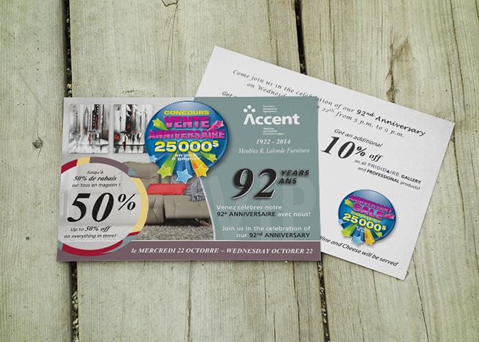 Accent Postcard