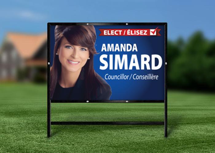 Amanda Simard Lawn Sign