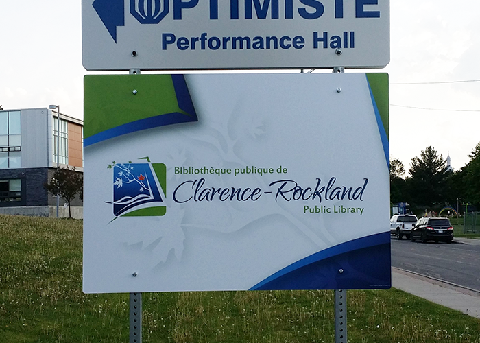 CR Library Sign