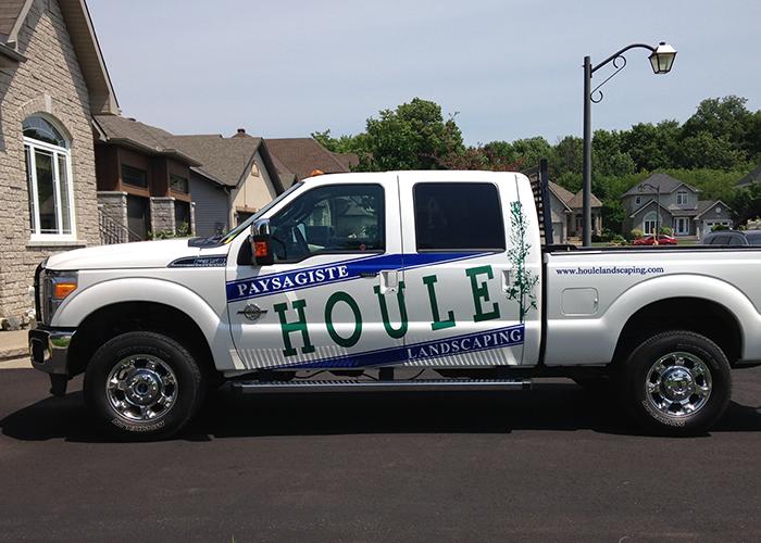 Houle Landscaping Car Vinyl