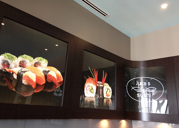Juca's Sushi Sign