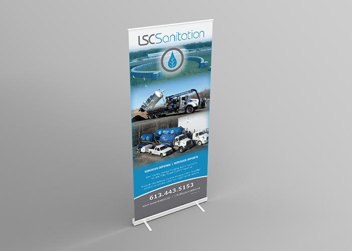 LSC Sanitation Pop-Up Banner