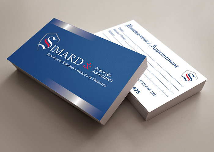 Simard Appointment Cards