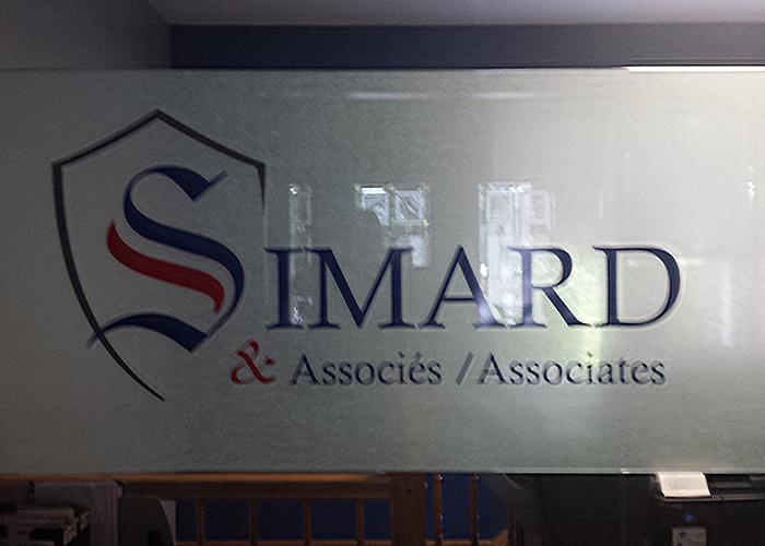 Simard Vinyl Sign