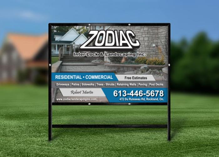 Zodiak Lawn Sign
